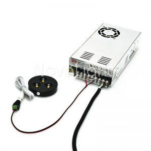COnexion con conector de corriente