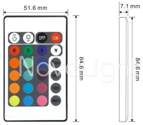 Controlador RGB de 25 botones DImensiones