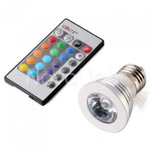 Foco LED RGB 3w E27 Portada