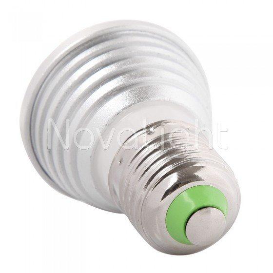 Foco LED RGB 3w E27 Detalle de la base