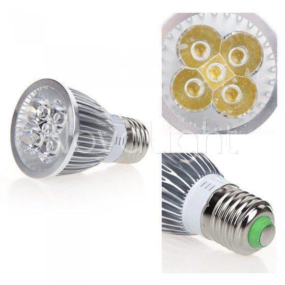 Lampara LED 5w BLanco Detalle Foco E27