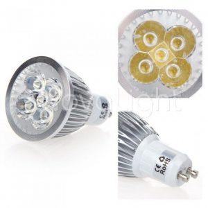 Lampara LED 5w BLanco Detalle Foco GU10