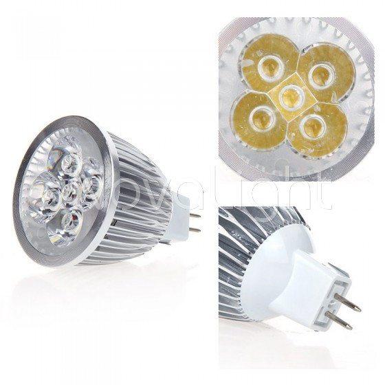 Lampara LED 5w BLanco Detalle Foco MR16
