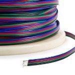Rollo de cable RGB de 4 polos para tira LED