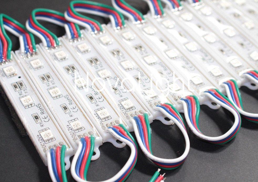 Modulo de 3 LED RGB 5050 Modulos Interconectados