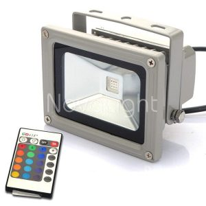 Reflector LED RGB 10w con control remoto portada