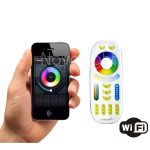 Portada del controladr RF Wifi, compatible con Android, Iphone y Tablets