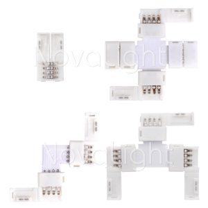 Permiten conectar tiras en Angulo, o varias tiras en un solo conector