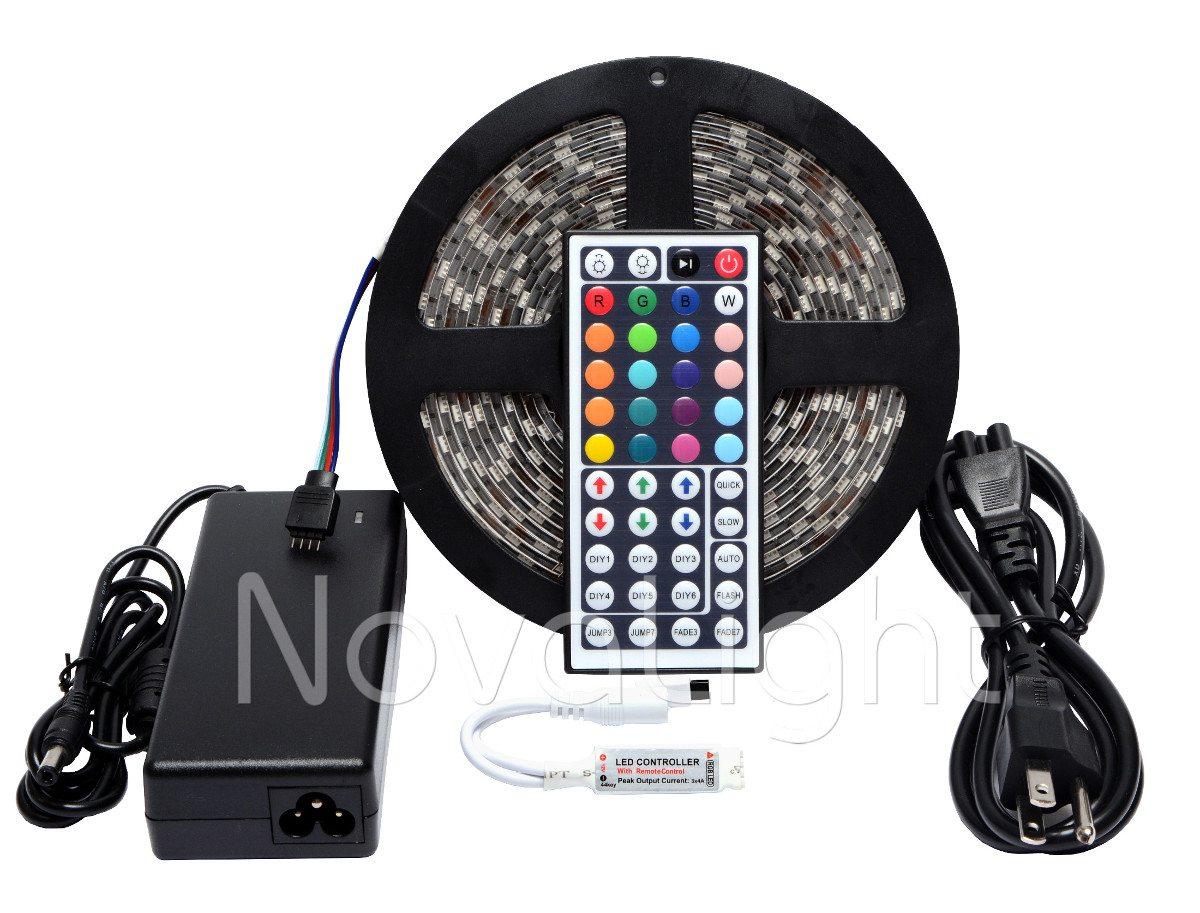 Portada del kit de tira LED RGB de 5 metros, con 300 LED