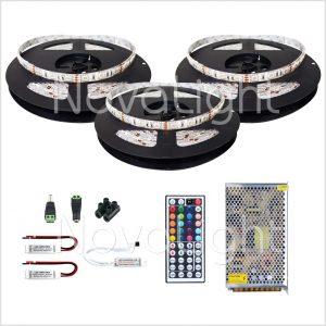 Kit completo de Tira LED RGB 15 mt (900 LED 5050)