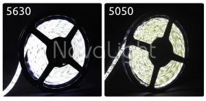 Comparativa de luminosidad entre tira 5630 y 5050 en Blanco Puro