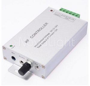 Sistema de control audioritmico con ajuste de sensibilidad