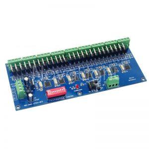 Controlador para sistemas LED por medio de DMX 512 Soporta hasta 27 Canales
