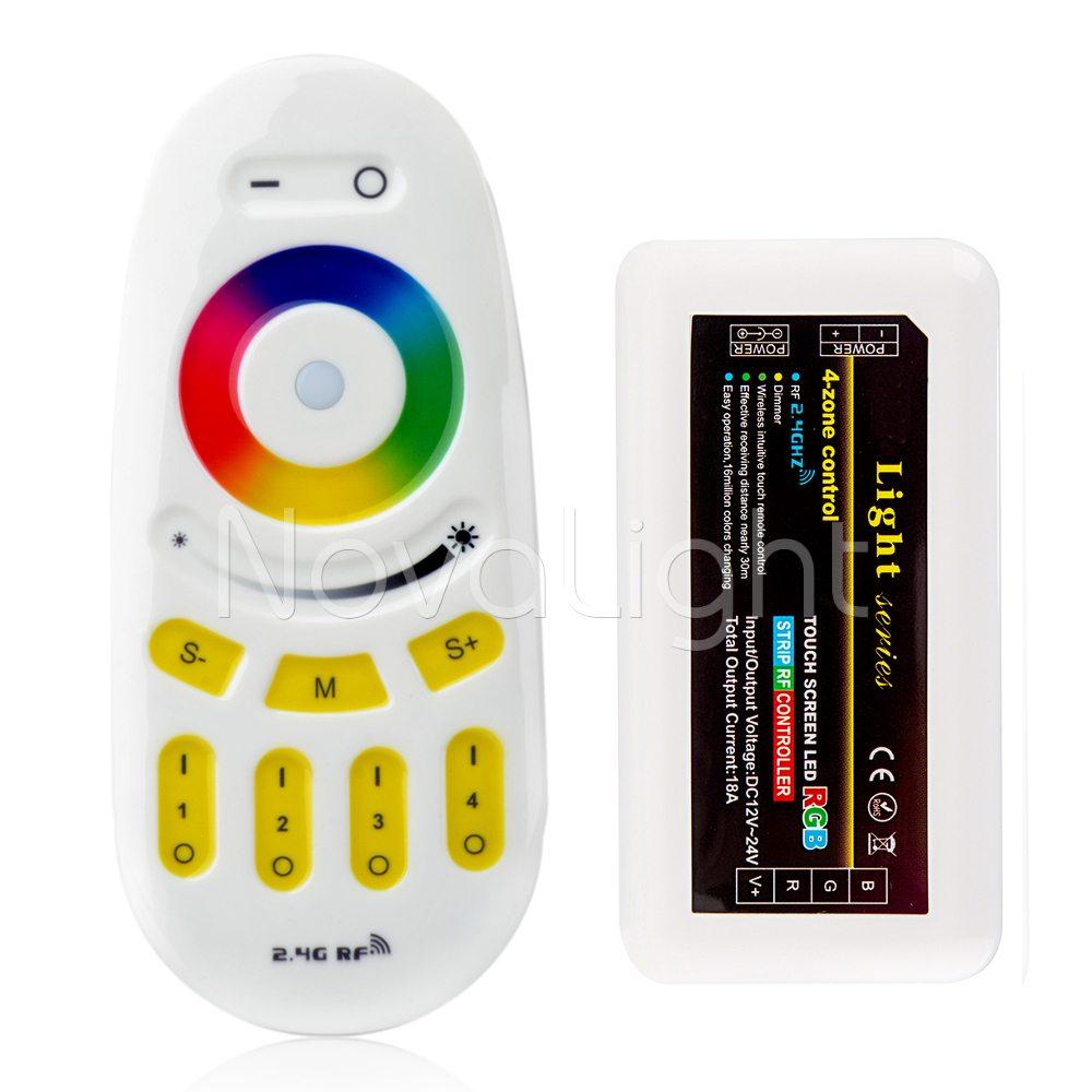 Control y controlador RF Tactil para tiras LED RGB Multicolor