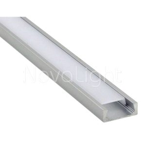 BAL005 - Perfil de Aluminio para tira LED - Recto para empotrado o sobrepuesto