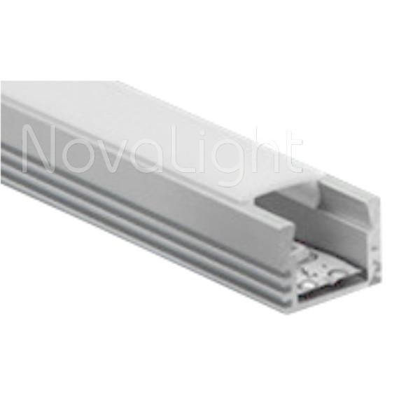 BAL011 - Perfil de Aluminio para tira LED - Multripropósito, sobrepuesto, empotrado y colgante