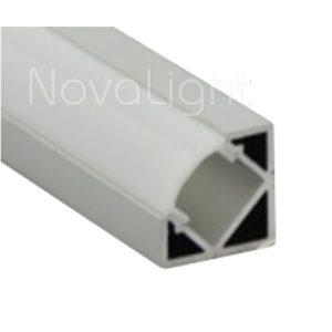 BAL020 - Perfil de Aluminio para tira LED - Esquinero Sobrepuesto
