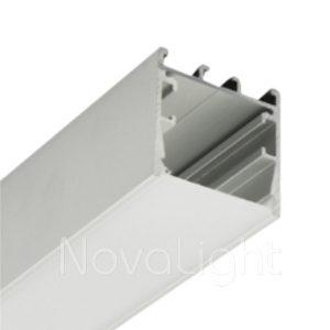 BAL031 - Perfil de Aluminio para tira LED - Multipropósito, ideal para luminarias suspendidas