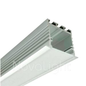 BAL032 - Perfil de Aluminio para tira LED - Multipropósito, ideal para luminarias empotradas o suspendidas