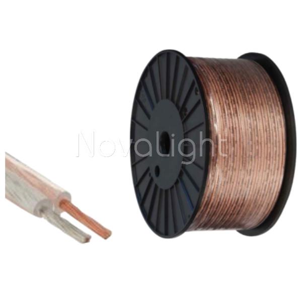 Cable Bipolar 2 x AWG18 Transparente