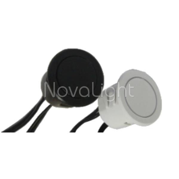 Sensor Switch tacitil para tiras y perfiles LED tipo boton externo empotrable