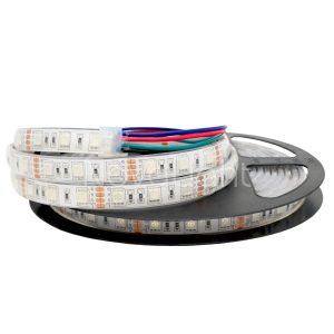 Tira LED RGB 5050 Multicolor Sumergible IP68 para Albercas, acuarios, fuentes y otros