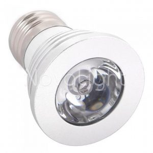 Foco LED RGB 3w E27 Detalle Lampara