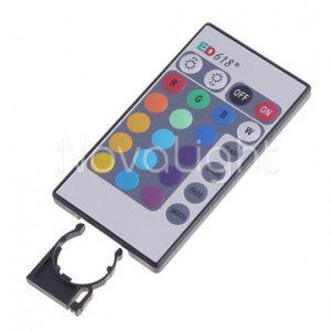 Foco LED RGB 3w E27 Detalle de Control Remoto