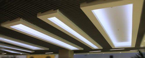 Falso Techo o Plafon iluminado por Tiras LED
