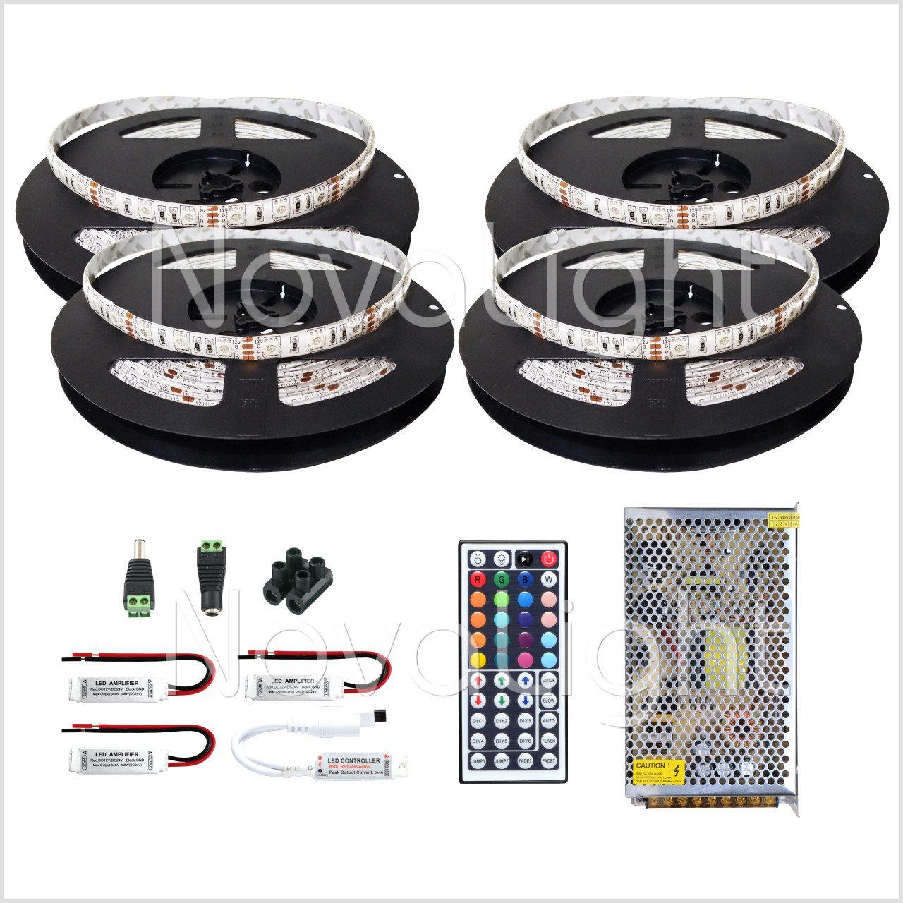 Kit completo de Tira LED RGB 20 mt (1200 LED 5050)