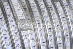 Manguera plana rectangular con 60 LED 5050 Alto Brillo