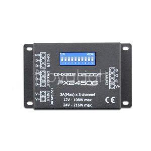 Controlador para sistemas LED por medio de DMX 512