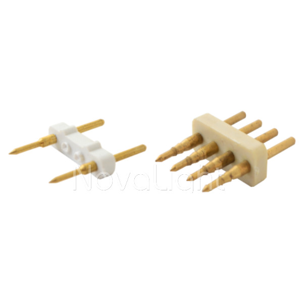 Pines de conexion para mangueras LED 120v versión Macho / Hembra