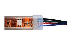 Tapa de silicon para tiras RGB y Unicolor