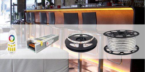 Gran variedad de Tiras LED, modulos LED y sus Accesorios