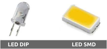Diferencias entre led tipo DIP y SMD