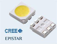 Detalle de chip led 5050 marca Epistar y Cree
