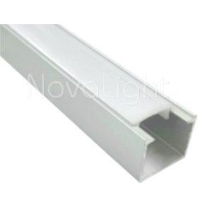 BAL010 - Perfil de Aluminio para tira LED - Recto para empotrado o sobrepuesto