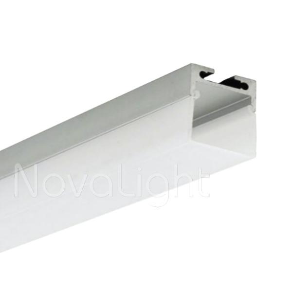 Bal 030 perfil de aluminio para tiras led 2mt colgante for Perfiles de aluminio catalogo