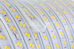 Manguera plana rectangular con doble linea de LED 5730 Alto Brillo