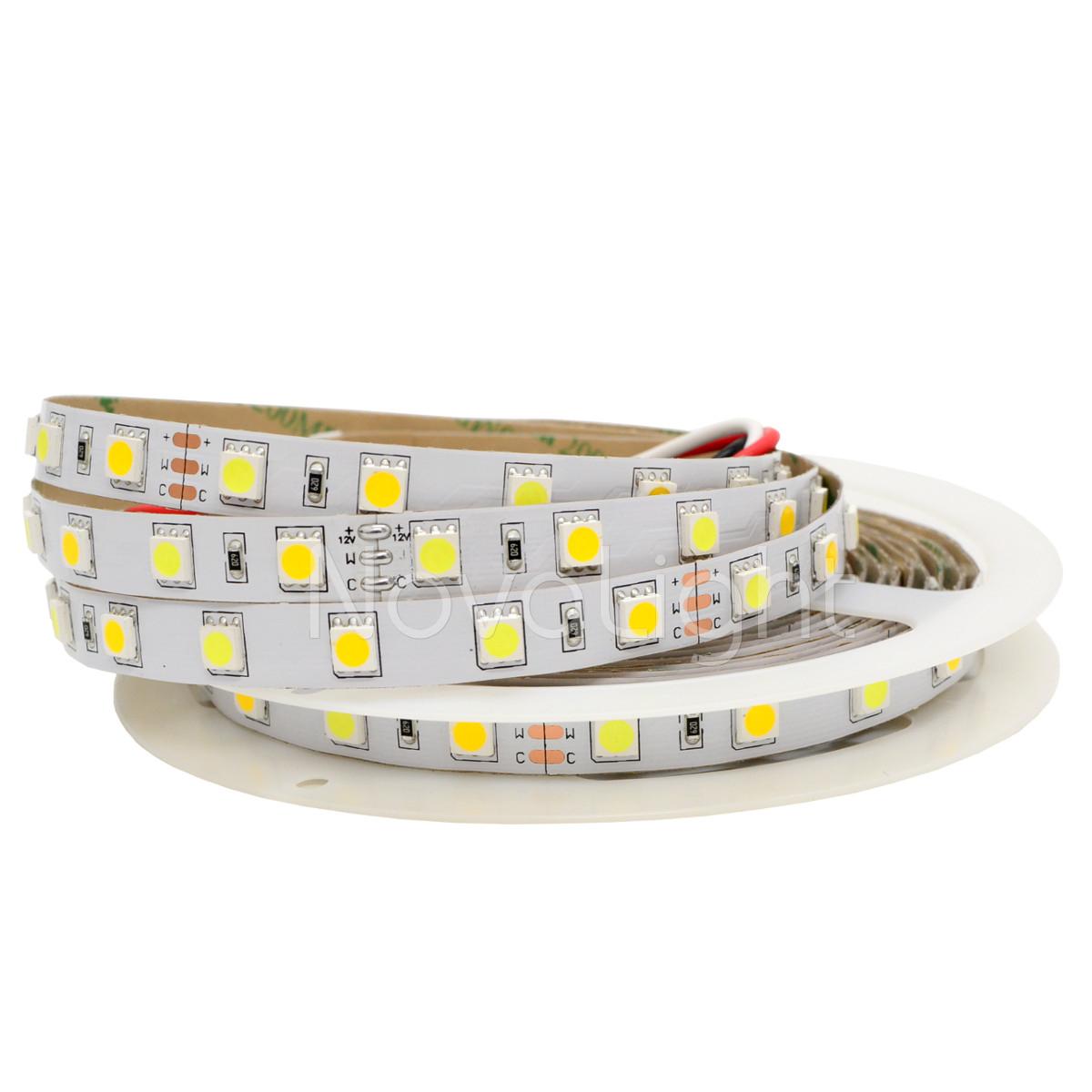 Tira LED Blanco Bicolor 300 LED 5050 IP20 12v 5mt