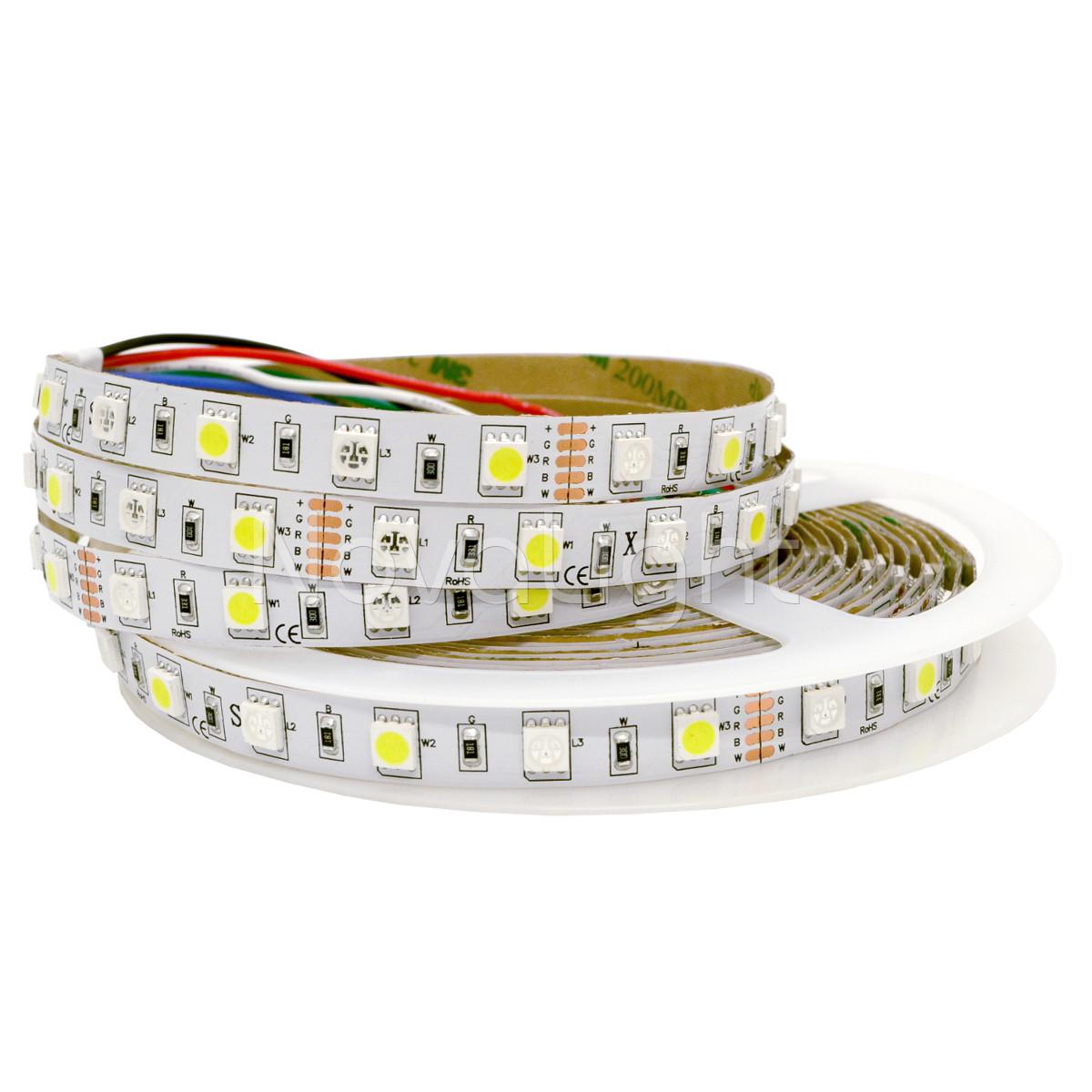 Tira LED RGBW Blanco y Multicolor 300 LED 5050 IP20 12v 5mt
